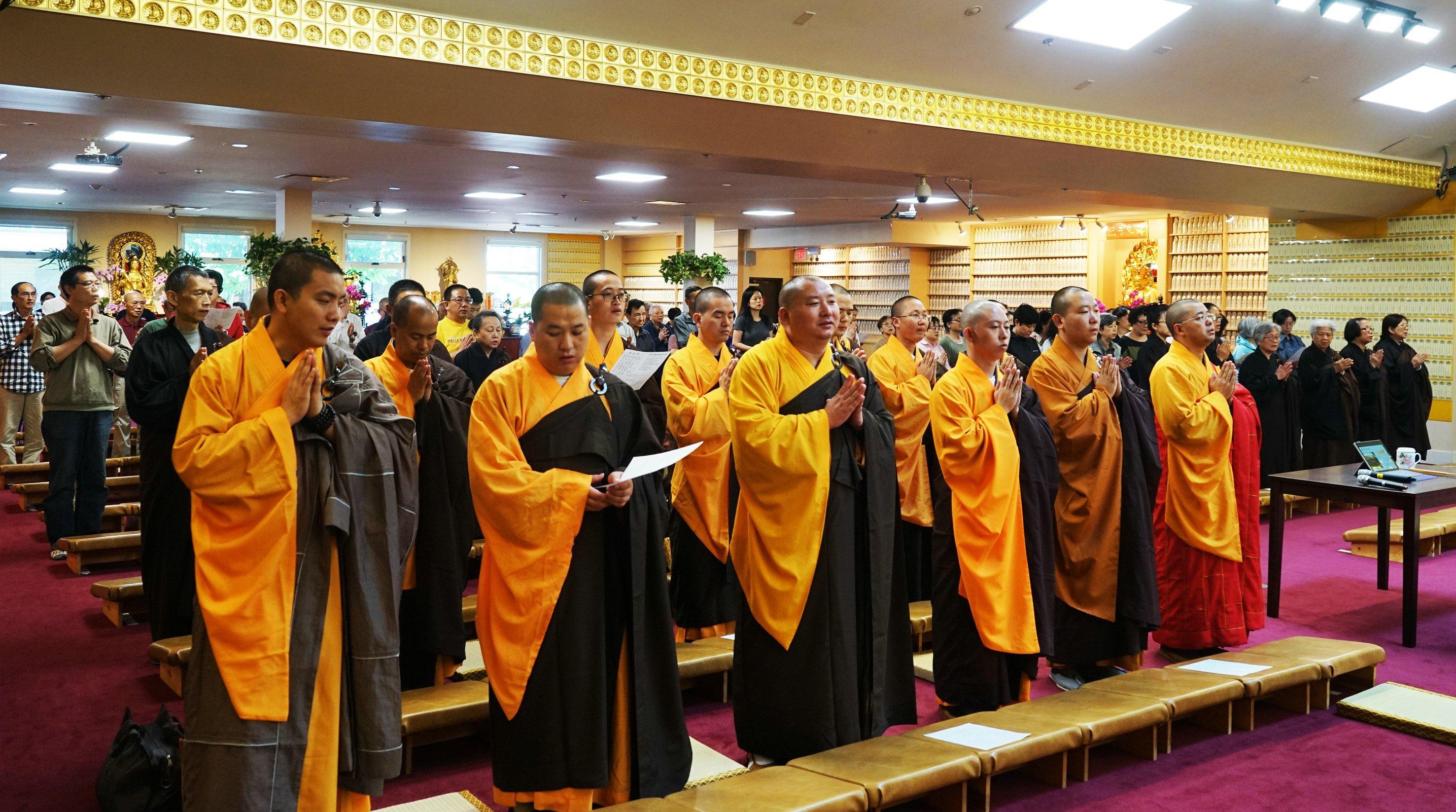 光泉法师应邀率团到访加拿大温哥华金佛寺