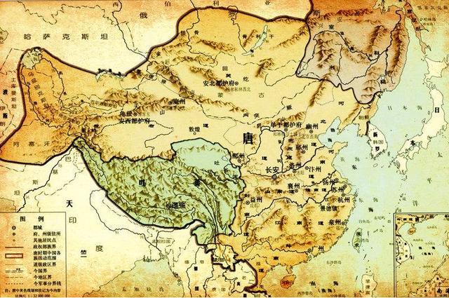 唐朝地图(资料图)