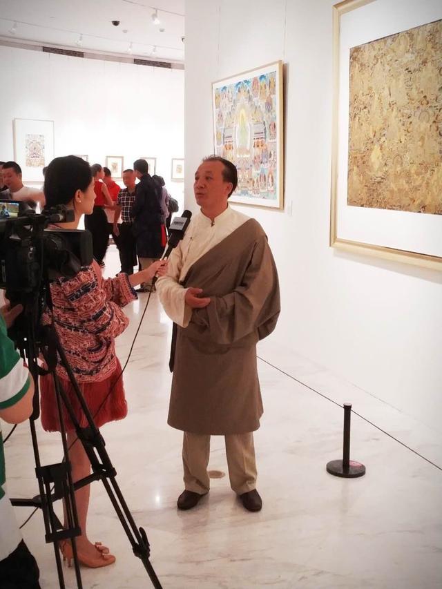 情缘信仰 梵境传心:娘本唐卡艺术展在深圳开幕