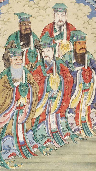 道教五岳配天思想之五岳神仙,佐天行化