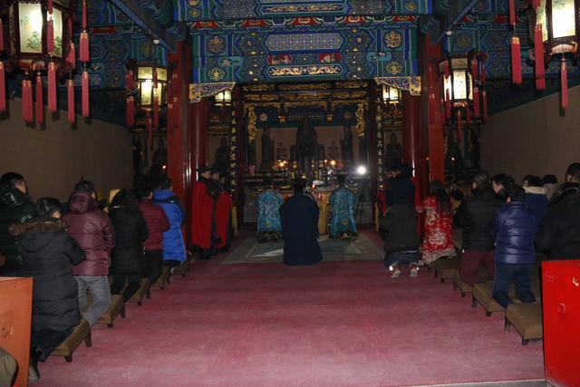 北京白云观举行迎銮接驾仪式
