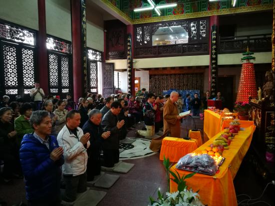 重庆佛学院居士班举办17年重阳节敬老专题祈福活动