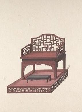 清代手绘古典家具图
