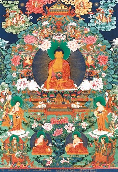 西藏唐卡 灼灼其华