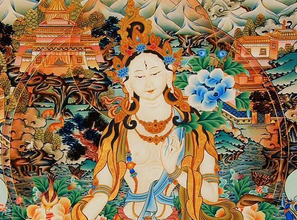 同时赐予长寿、福气与智慧的六光如意轮度母