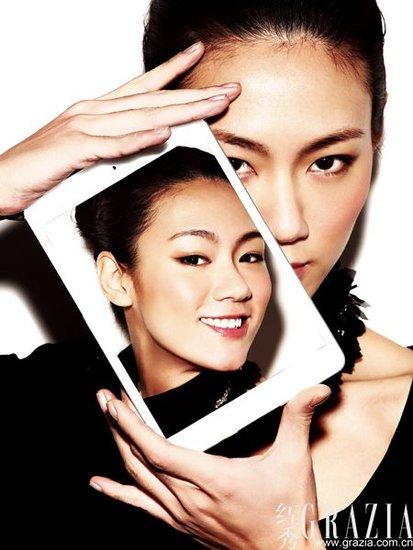 变妆杂志封面模特的动人美肌