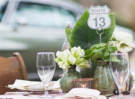 清新靓丽的绿色婚礼 浪漫的冬季婚礼布置