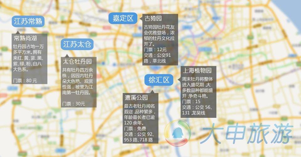 上海赏牡丹地图