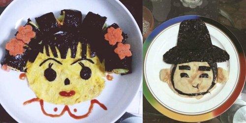 满满都是爱!她每天为女儿做创意早餐