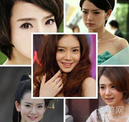 时尚 美容 正文  柳岩: 戚薇:   戚薇的眼睛本身就很大,棕色美瞳是她图片