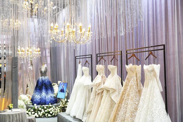 天价婚纱亮相2018中国婚博会上海站 高定产品受追捧
