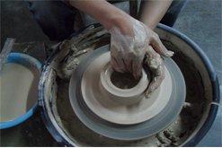 陶瓷制作过程。