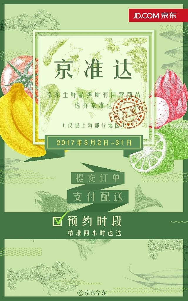 上海人民三月上京东买生鲜,想啥时候收货都可以