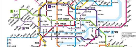 上海地铁线路图(点击看大图)-上海地铁20年图片