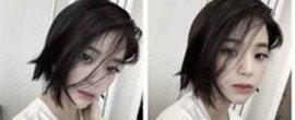 欧阳娜娜剪短发了