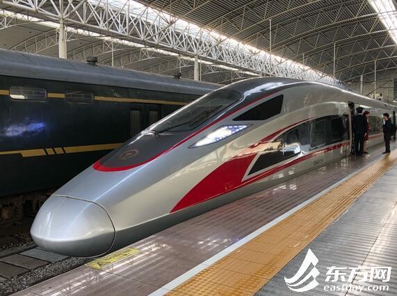 上海站首开京沪高铁 复兴号 全程运行4小时38分