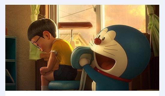 大雄和哆啦A梦进影院催泪来了图片