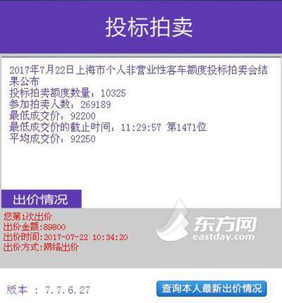 """7月沪牌中标率3.8% 市民:""""奢侈小铁皮""""价格看涨"""