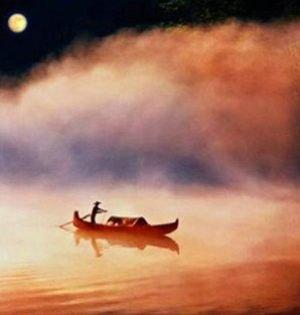 洞庭湖赏月 明河共影俱澄澈