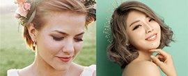 夏季短发新娘发型怎么搭