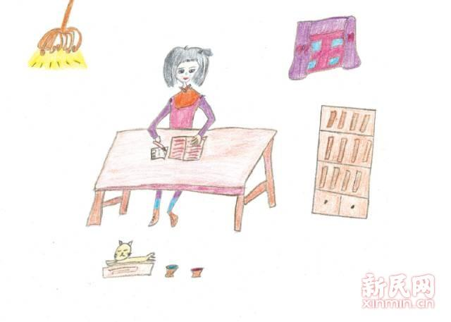 沪上小学生手绘超萌漫画告诉你