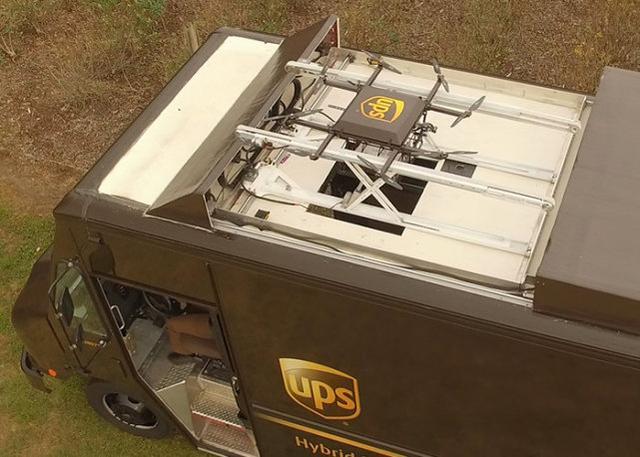UPS展示概念无人机送货系统 能帮快递员效率翻倍