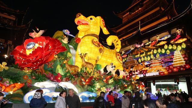 豫园灯会首日亮灯!除了巨型生肖金狗 还有哪些看点?