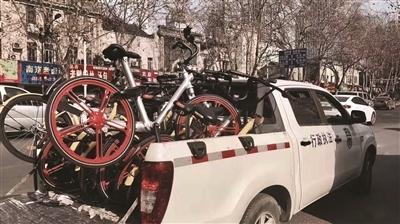 共享单车乱停乱放现象严重 南京:清拖500余辆