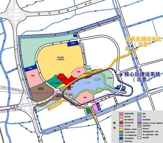 沪迪士尼拟设2条内部捷运线 设站方案暂未确定
