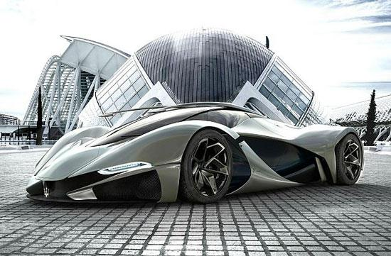 未来感十足 玛莎拉蒂lamaserati概念车高清图片