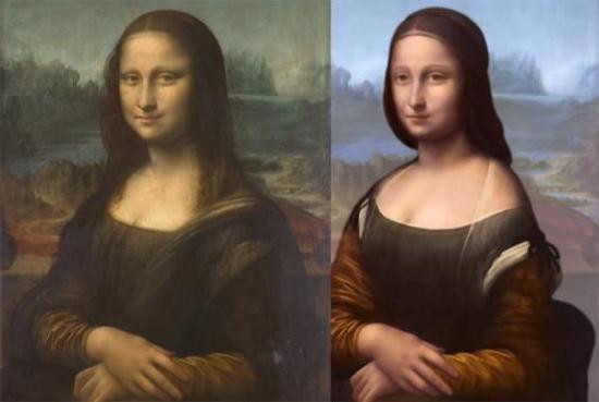 法国科学家通过扫描将 蒙娜丽莎 分为四层画
