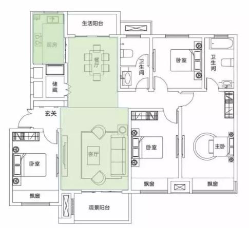 165㎡高阶四房︱大空间的美学修为