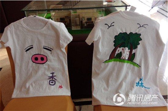 香江名邸创意手绘t恤 嗨翻五一假期