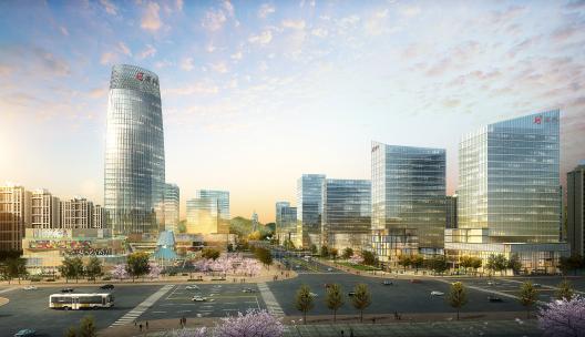 邵阳高铁北源科中央广场:打造多元化城市商业综合体