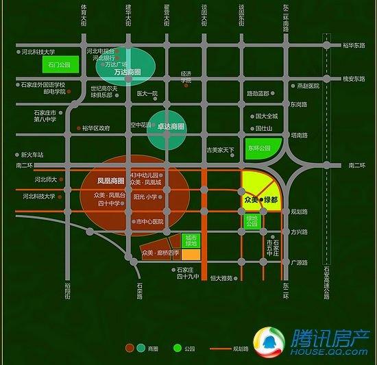 众美绿都户型区间为92-132平米 打造生态之城