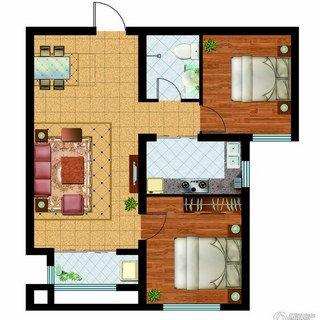 奥洲领域2室2厅1卫 91.23平