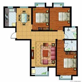 奥洲领域3室2厅2卫 139.31平
