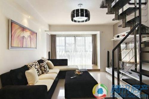 黑白简约风复式挑高小豪宅图片