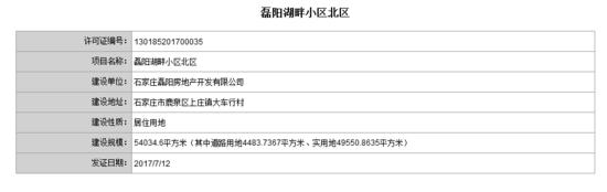 """证件""""井喷""""!鹿泉11个项目建设用地规划许可证曝光"""