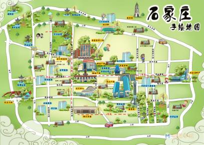 石家庄腾讯独家手绘地图
