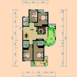 E户型四室两厅两卫约151.82平