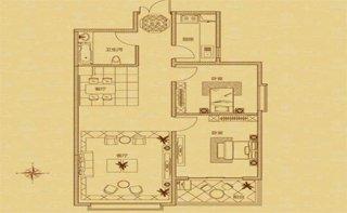 B户型 两室两厅一卫 90.41平