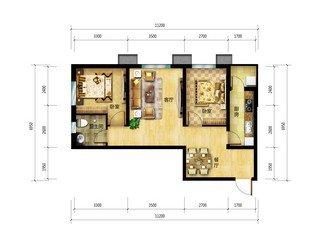 紫晶悦城126平三室两厅两卫厨房