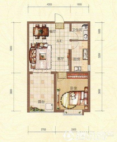 一厅三房有楼梯设计图