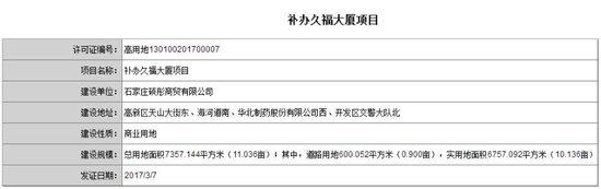 曝久福大厦商业楼获用地许可证 占地11亩