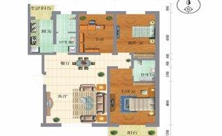 D户型三室两厅两卫 143.12平