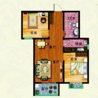 C户型 两室两厅一卫 91平