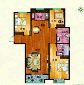 D户型 三室一厅一卫 82平