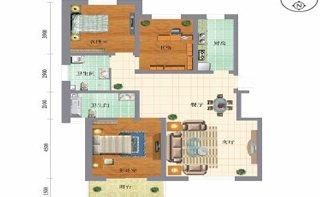 C户型 三室两厅两卫 139.25平