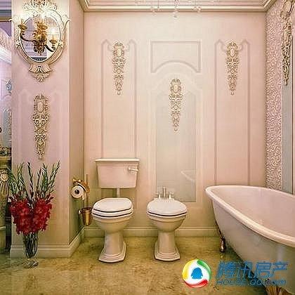 华丽与复古结合 奢华浴室令人窒息